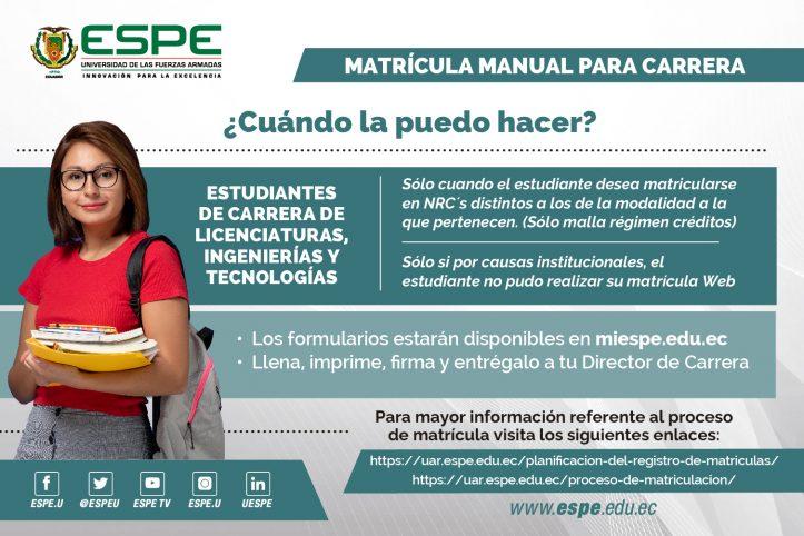 Matriculas ESPE 1