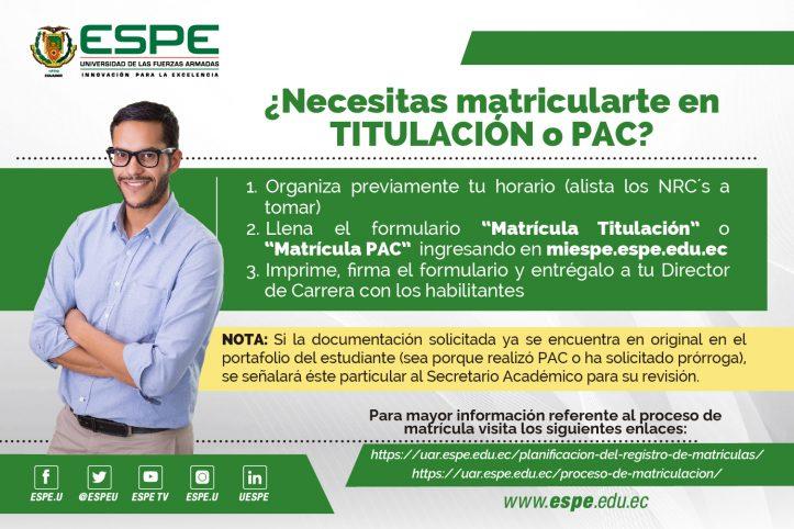 Matriculas ESPE 2