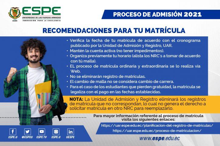 Matriculas ESPE 3