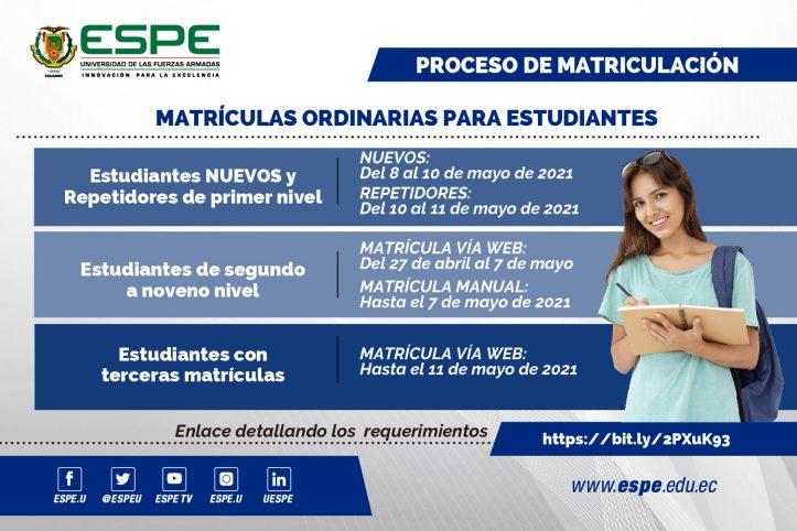 Matriculas ESPE